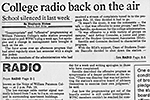 College Radio Back On The Air