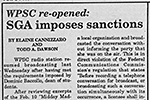 WPSC Re-opened: SGA Imposes Sanctions