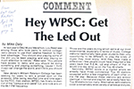 Hey WPSC: Get The Led Out