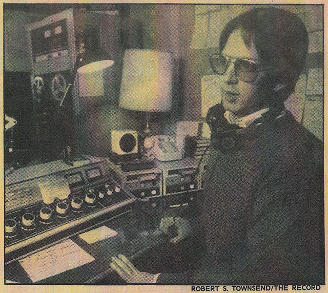 Joe Schilp On-Air At LaserHits 89 (The Record)