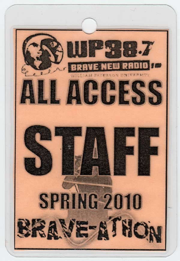 2010 Brave-A-Thon All Access Staff Pass