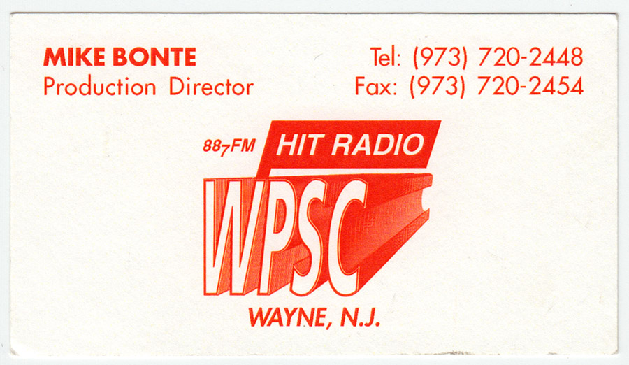 Business Card - Mike Bonte, Production Director