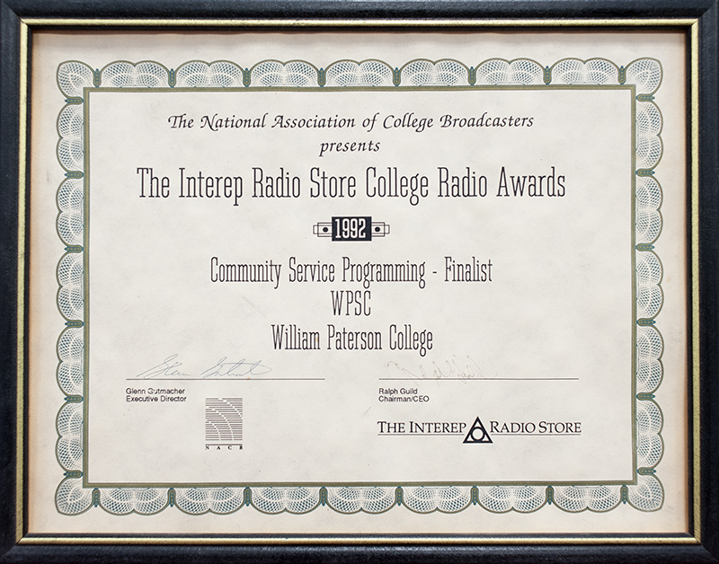 NACB Award For WPSC-FM